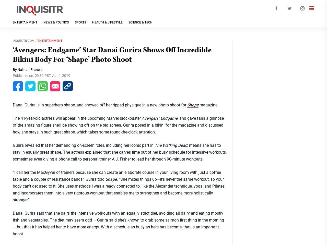 'Avengers: End Game' Star Danai Gurira Shows Off Incredible Bikini…