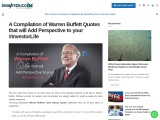 Warren Buffett Quotes that will Add Perspective to your InvestorLife