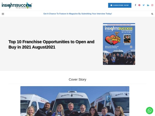 Top 10 Franchise Opportunities to Open and Buy in 2021