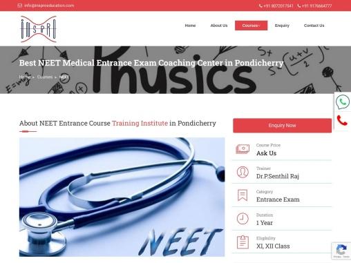 NEET Medical Entrance Exam Coaching in Pondicherry