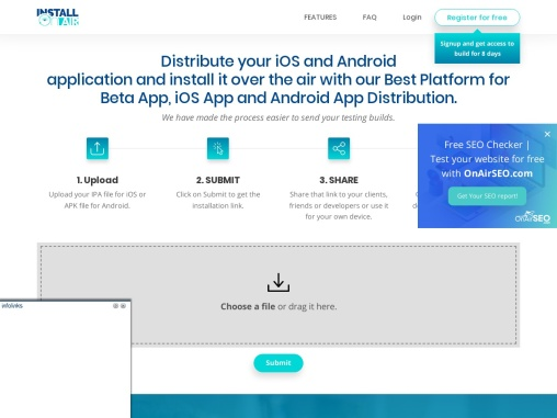 android appdistribution – Install on Air