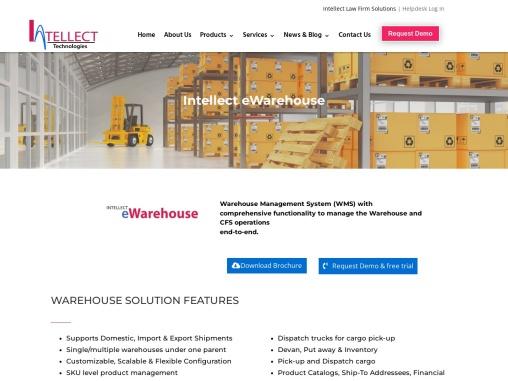 Intellect-ewarehouse – Logistics Management System Software   Intellect Technologies, Inc.