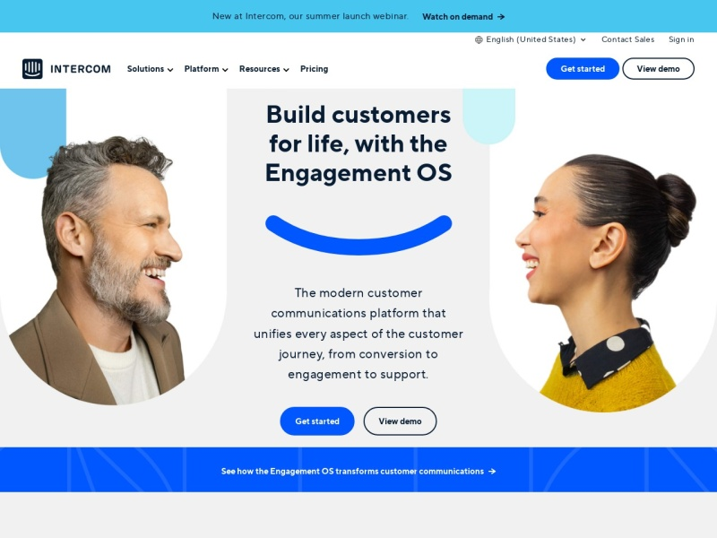 Intercom | ライブチャット等の顧客メッセージプラットフォーム