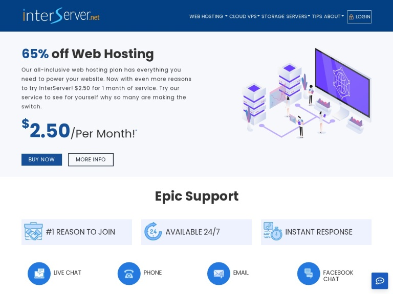 (is) Interserver Webhosting And Vps screenshot