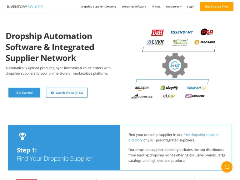 Inventory Source Dropship Automation Software screenshot