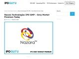 Nazara Technologies IPO GMP – Grey Market Premium