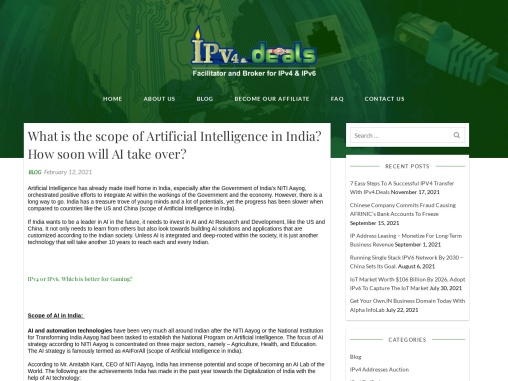 What is the scope of Artificial Intelligence in India? How soon will AI take over?