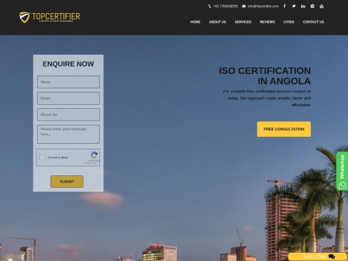 ISO, CE Mark, VAPT & HACCP Certification Company in Angola