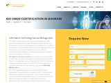 ISO 20000 Certification Consulting  Services in Bahrain