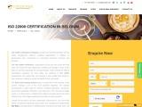 ISO 22000 certification consulting service in Belgium | TopCertifier