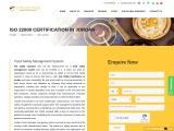 ISO 22000 certification consulting service in Jordan   TopCertifier