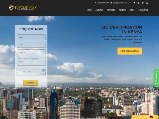 Best ISO Certification in Kenya|Topcertifier