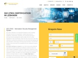 ISO 27001 certification consulting service in Lebanon | TopCertifier