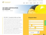 ISO 45001 certification consulting service in Lebanon | TopCertifier