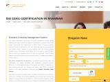ISO 22301 certification consultancy in Myanmar