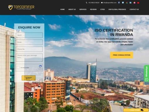 ISO, CE Mark, VAPT & HACCP Certification Company in Rwanda