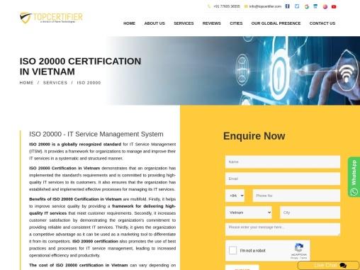 ISO 20000 Certification Consultancy in Vietnam