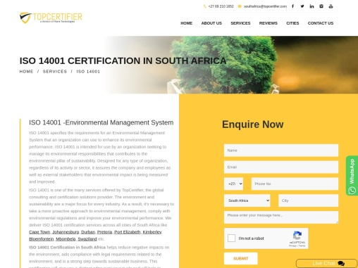 ISO 14001 Certification in South Africa