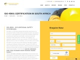 ISO  45001 Certification in South Africa | Free Consultation