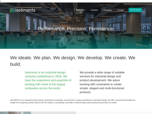 Isoliments : about our company