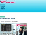 Air France Airlines Refund Refundable Ticket