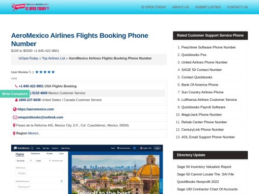 AeroMexico Airline Reservation