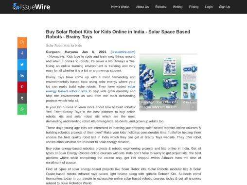Buy Solar Robotic Kits for Students Beginners Expert & Schools in India – Brainy Toys