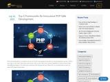 Best Frameworks for Innovative PHP Web Development Websites