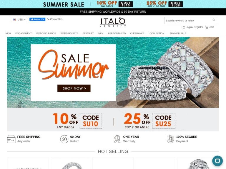Italo Jewelry Coupon Codes