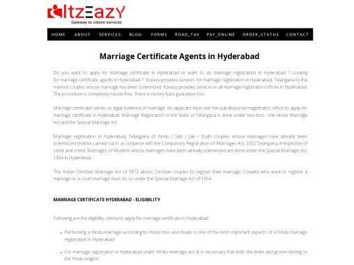 Marriage Certificate Hyderabad  