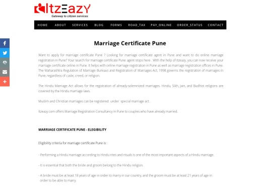 Marriage Certificate Pune