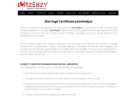 Marriage Certificate Jamshedpur