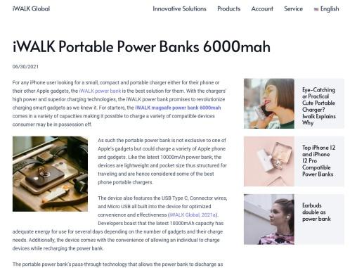 iWALK Portable Power Banks 6000mah – iWALK Portable Power Bank, Portable iPhone Charger, True Wilrel