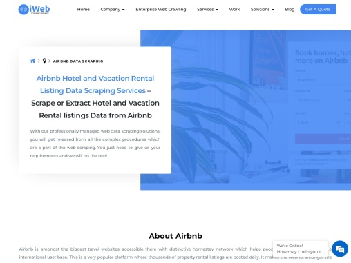 Airbnb Hotel and Vacation Rental Listing Data Scraping