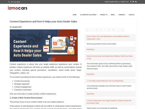 Content Experience and How it Helps your Auto Dealer Sales
