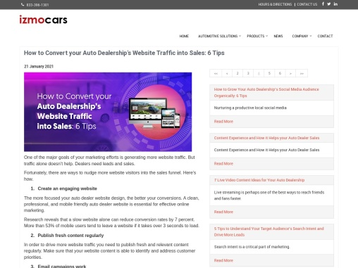 How to Convert your Auto Dealership's Website Traffic into Sales: 6 Tips