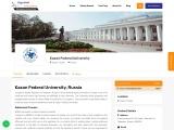 Kazan Federal University, MBBS Fees 2021, Admission, Ranking