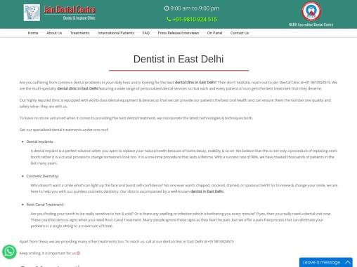Dentist in East Delhi and Krishna Nagar