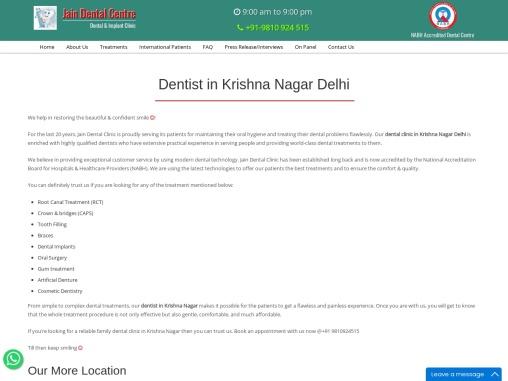 Dentist in Krishna Nagar Delhi