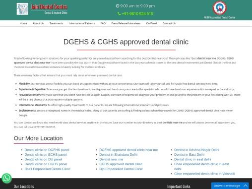 Dgehs approved dental clinic near me | dentist near me