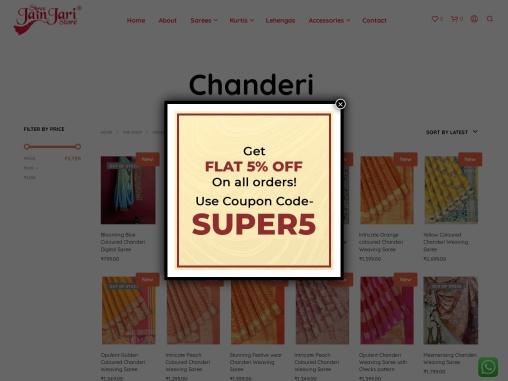Buy Saree Online | Chanderi Sarees in Kolkata | Buy Silk Saree | Shree Jain Jari Store