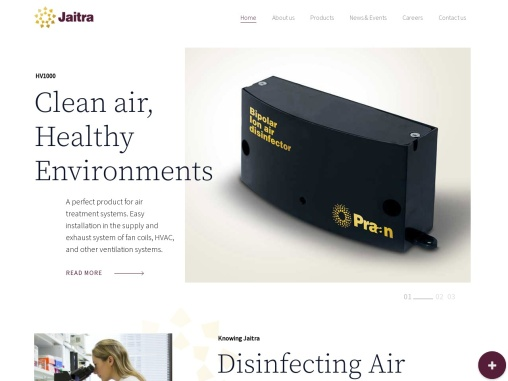 Air Disinfection Devices   Air Sanitizer Machine   Jaitra Devices