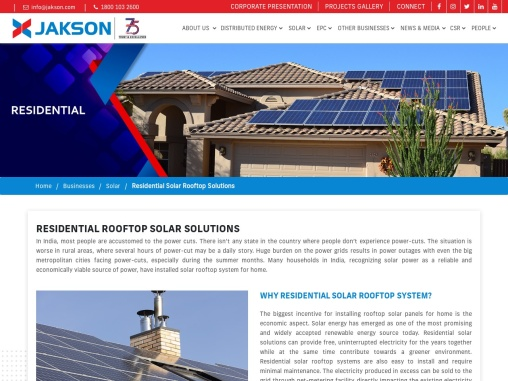 Residential Rooftop Solar Solutions