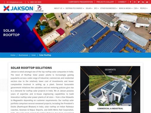 Rooftop solar company