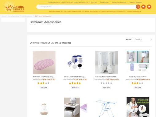 Buy Bathroom Accessories Like Instant Shower Heater and Wooden Shoe Rack Online In Kenya.