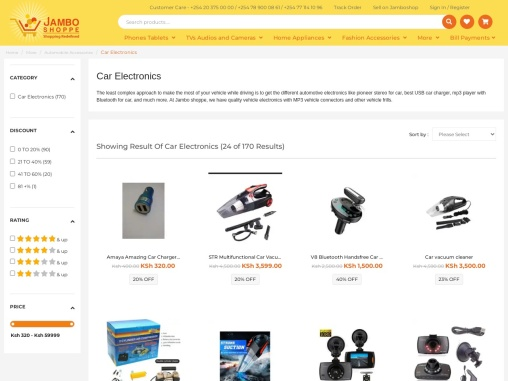 Buy Vehicle Electronics And Wireless Car Charger Online In Kenya.