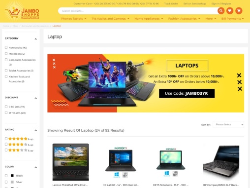 Check laptops for sale and latest hp laptop price online in Kenya   Jamboshop