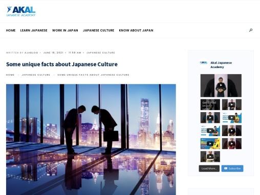 Some unique facts about Japanese Culture