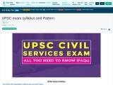 UPSC Exam Syllabus and Pattern