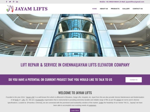 Lift Repair & Service in Chennai|Jayam lifts Elevator Company